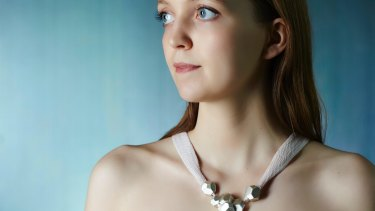 Leah Heiss' Smart Heart necklace acts as a cardiac monitor.