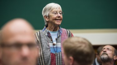 Sister Megan Rice who is serving a prison sentence of almost three years after breaking-in to a nuclear complex in Tennessee, aged 82.