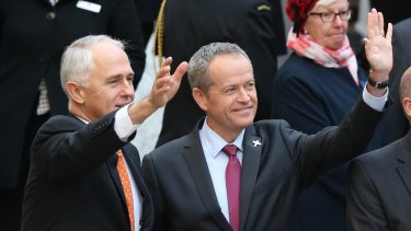 Malcolm Turnbull and Bill Shorten have been asked to lead a historic linking of arms in Parliament.