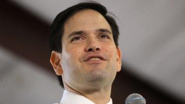 Republican presidential candidate Senator Marco Rubio is the leading mainstream Republican contender.