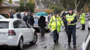 Police search the house Roxburgh Park house of Brighton gunman Yacqub Khayre