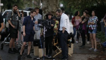 Director Lynne Ramsay withJoaquin Phoenix in You Were Never Really Here.