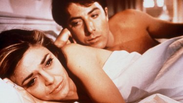 Mrs Robinson (Ann Bancroft) propels generational sexual competition to new heights as a young Benn Braddock (Dustin Hoffman) finds himself torn between mother and daughter in the film that set tongues wagging in the swinging '60s.