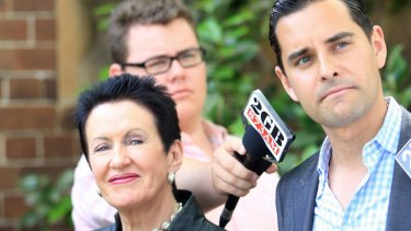 Opposed to polling changes: Independent member for Sydney Alex Greenwich with lord mayor Clover Moore.