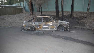 Darren Galea's burnt-out Toyota corolla was found near his home about two hours after he was murdered.