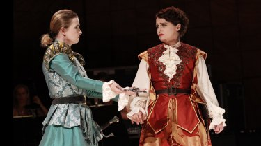Sally-Anne Russell and Emma Matthews in Voyage to the Moon.