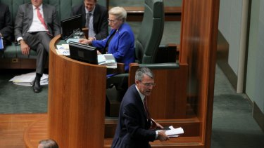 An outraged shadow attorney-general Mark Dreyfus is thrown out of the chamber.