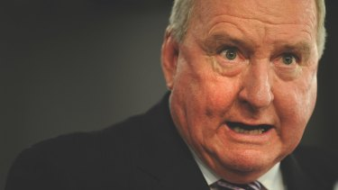 """Who is running NSW?"": Alan Jones has been thanked by Shooters Party MP Robert Borsak for his support of forcing businesses to vote."