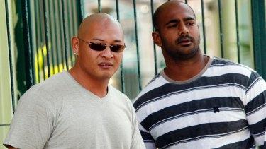 Andrew Chan (left) and Myuran Sukumaran together in 2011.
