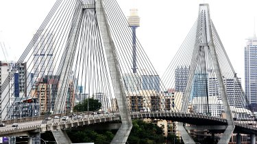 "Aecom's chief urban designer admits his plans to reshape Anzac Bridge as a giant park are ""absolutely out there""."