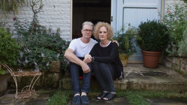 Ms Thompson with her husband Andrew at their home in Grays Point.