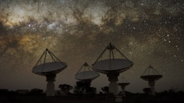 The Australian Square Kilometre Array Pathfinder radio telescope in Western Australia.