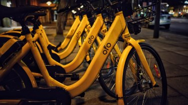 Ofo share bikes have started to appear in Sydney.
