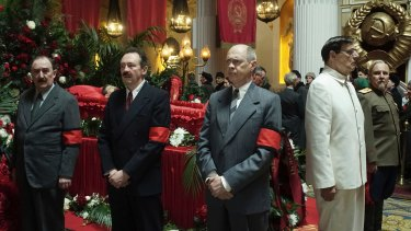 Dermot Crowley (from left), Paul Whitehouse, Steve Buscemi, Jeffrey Tambor and Paul Chahidi in The Death of Stalin.