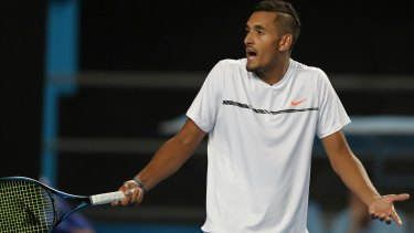 """You did this to me, you said I would be right by Monday"": As Nick Kyrgios' physical state deteriorated, his emotions got the better of him."