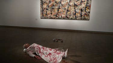 Mike Parr's recent performance at the National Gallery of Australia involved being spattered with his own blood in front of Jackson Pollock's <i>Blue Poles</i>.