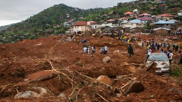 The mudslide in August killed more than 1000 people.