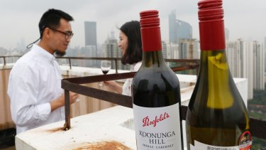 Penfolds wine being enjoyed in China