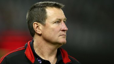 Lessons learnt: Coach John Worsfold leaves the field dejected after a loss.