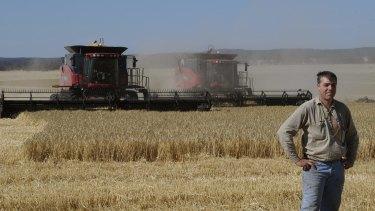 Lawrence Richmond in a paddock of barley, near Lexton, Victoria.