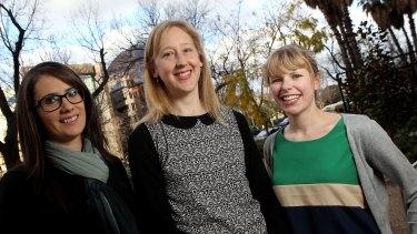 Cara Doherty, Elena Tucker and Vanessa Kellerman.