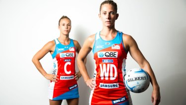 New leaders: Abby McCulloch (front) will captain the NSW Swifts this season with Paige Hadley as her deputy.