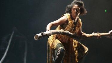 Dancer Elma Kris performs in Sheoak, which won best dance work for Bangarra Dance Theatre.