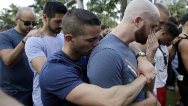 A vigil in memory of the victims of the Orlando mass shooting in June.