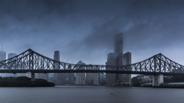 Heavy rain, damaging winds and possible hail are expected in Brisbane on Thursday.