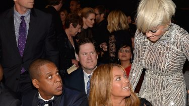 Speculations have surrounded the Black Widow singer and Jay Z for years, and Ora was directly asked if she had slept with the music mogul in 2014. The trio seen here last year.