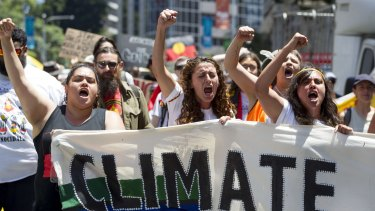 Among those who know what they think about climate change: demonstrators at the 2014 G20 Leaders Summit in Brisbane.