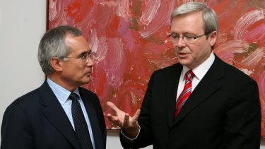 Lord Stern meeting with Mr Rudd in 2007.