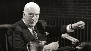 """Robert Menzies: his era """"saw a curious mix of looking back and looking forward""""."""
