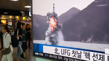 North Korea launched a missile from a submarine during last year's Ulchi Freedom Guardian drills.