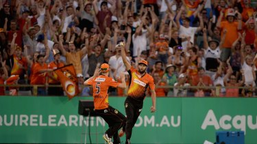 The massive crowd at the WACA enjoyed Perth's win in Sunday's BBL semi-final, but they'll have to watch Wednesday's final in Canberra on TV.