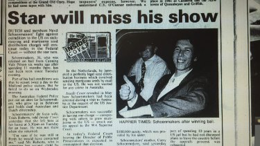 A story in The West Australian on August 2, 1991, reporting on Nevil Schoenmakers' disappearance.
