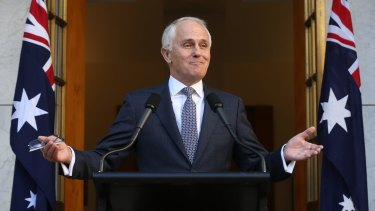 Prime Minister Malcolm Turnbull announced his new ministry at Parliament House.