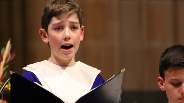 Australian Boys Choir soloist Justin Mitchell.