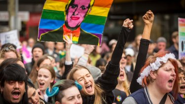 Tens of thousands of Melburnians rallied in support of the 'yes' vote on the weekend.