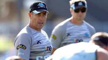 Ruthless: Cronulla coach Shane Flanagan.