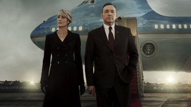 Robin Wright and Kevin Spacey in