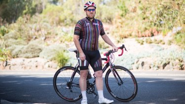 On yer bike: Richard Herbst had an epiphany in his 40s and took action.