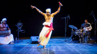 Baliphonics, a Sri Lankan group, perform music inspired by tradtional rituals.