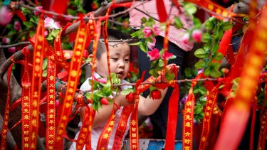 Chinese New Year celebration at the Bright Moon  Buddhist temple in Springvale.