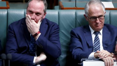 Deputy Prime Minister Barnaby Joyce and Prime Minister Malcolm Turnbull.