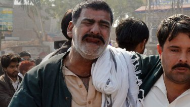 A Pakistani Shiite Muslim mourns the killing of his community members.