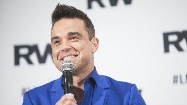 Robbie Williams: back in Australia for the Let Me Entertain You tour.