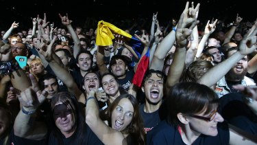 The Iron Maiden faithful lap up every moment at the Brisbane Entertainment Centre on Wednesday.