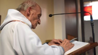 Father Jacques Hamel was killed on Tuesday near Roen, Normandy, when two attackers slit his throat during morning Mass.