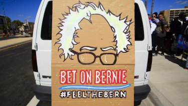 Bernie Sanders has attracted a host of young supporters.